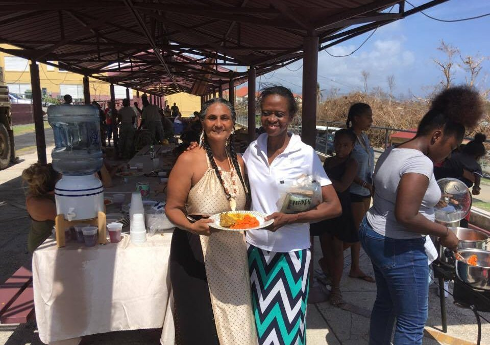 OPI'A TAINO FEEDS HURRICANE VICTIMS ON THE EAST END
